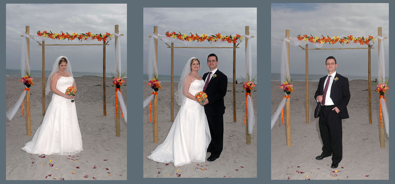 Beach Wedding Bamboo Arch Tropical Flowers